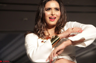 Meenakshi Dixit Walks the Ramp At Designer Nidhi Munim Summer Collection Fashion Week (6).JPG