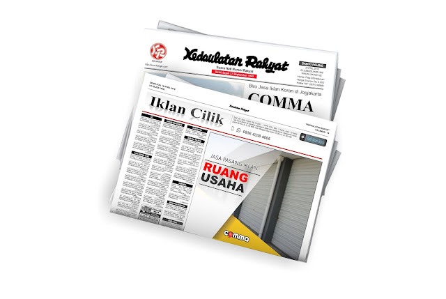 pasang iklan ruang usaha di koran Kedaulatan rakyat jogja
