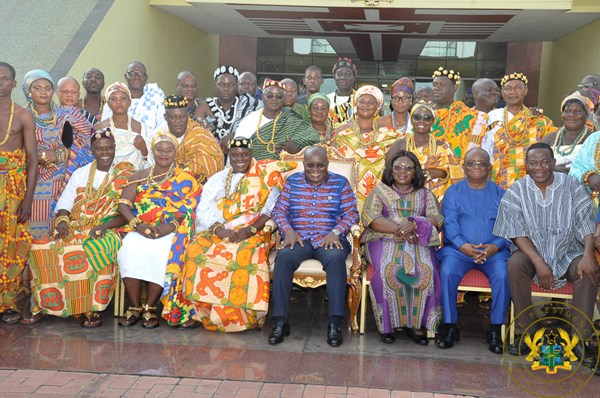 """We're Seeing Massive Transformation In Our Communities"" – Dzodze Chiefs To President Akufo-Addo"