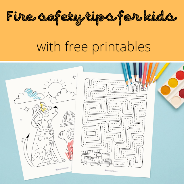 Fire safety tips for kids - with free printables