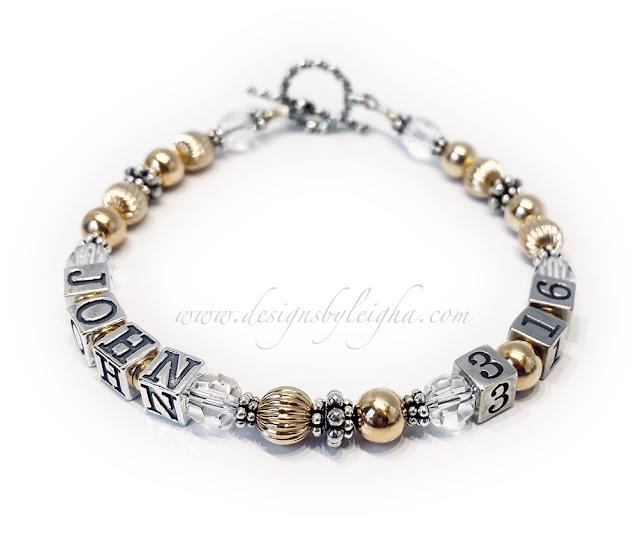 Gold John 3:16 Bracelet or Necklace