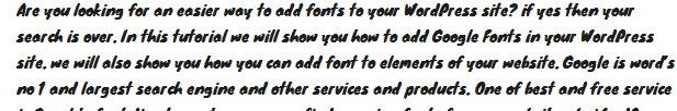 add font in wp