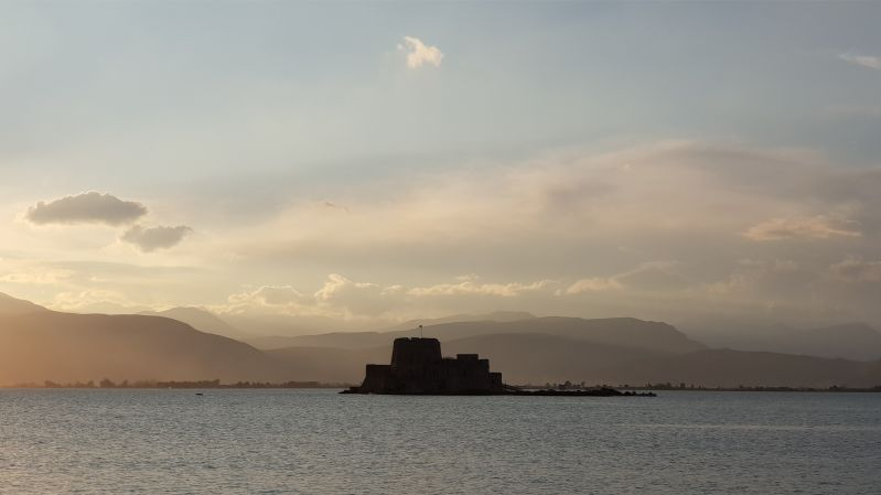 Bourtzi Nafplio Peloponnes April 2019