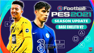 Download PES 2021 PPSSPP Base Chelito V2 Graphics HD New Face & Peter Drury Commentary