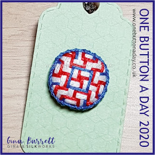 Day 220 - Organised Chaos - One Button a Day 2020 by Gina Barrett