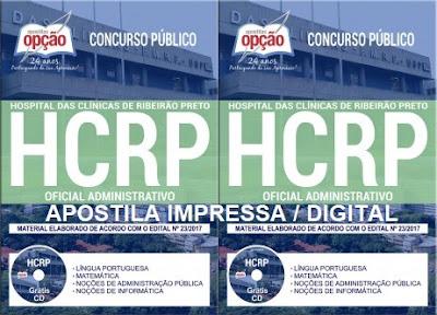 apostila HCRP 2017 Oficial Administrativo HC Ribeirão Preto