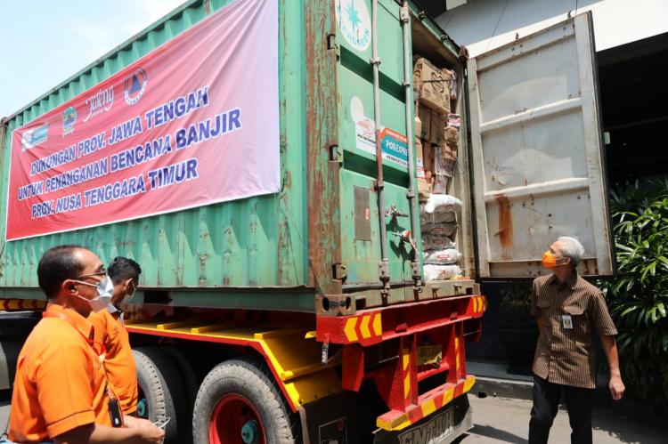 Jateng Kirim Bantuan Logistik ke NTT Senilai Rp 503 Juta