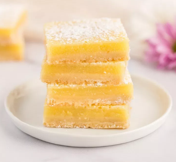 CLASSIC LEMON BARS #dessert #healthycake #lemon #bars #party