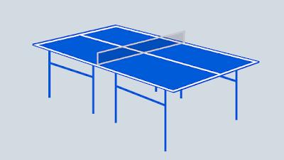 meja olahraga tenis meja
