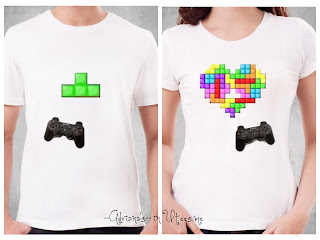 Tetris Blocks Kaos Couple Tshirt