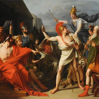 """Il dipinto """"L'ira di Achille"""" è di Michel Martin Drolling (1789-1851)"""