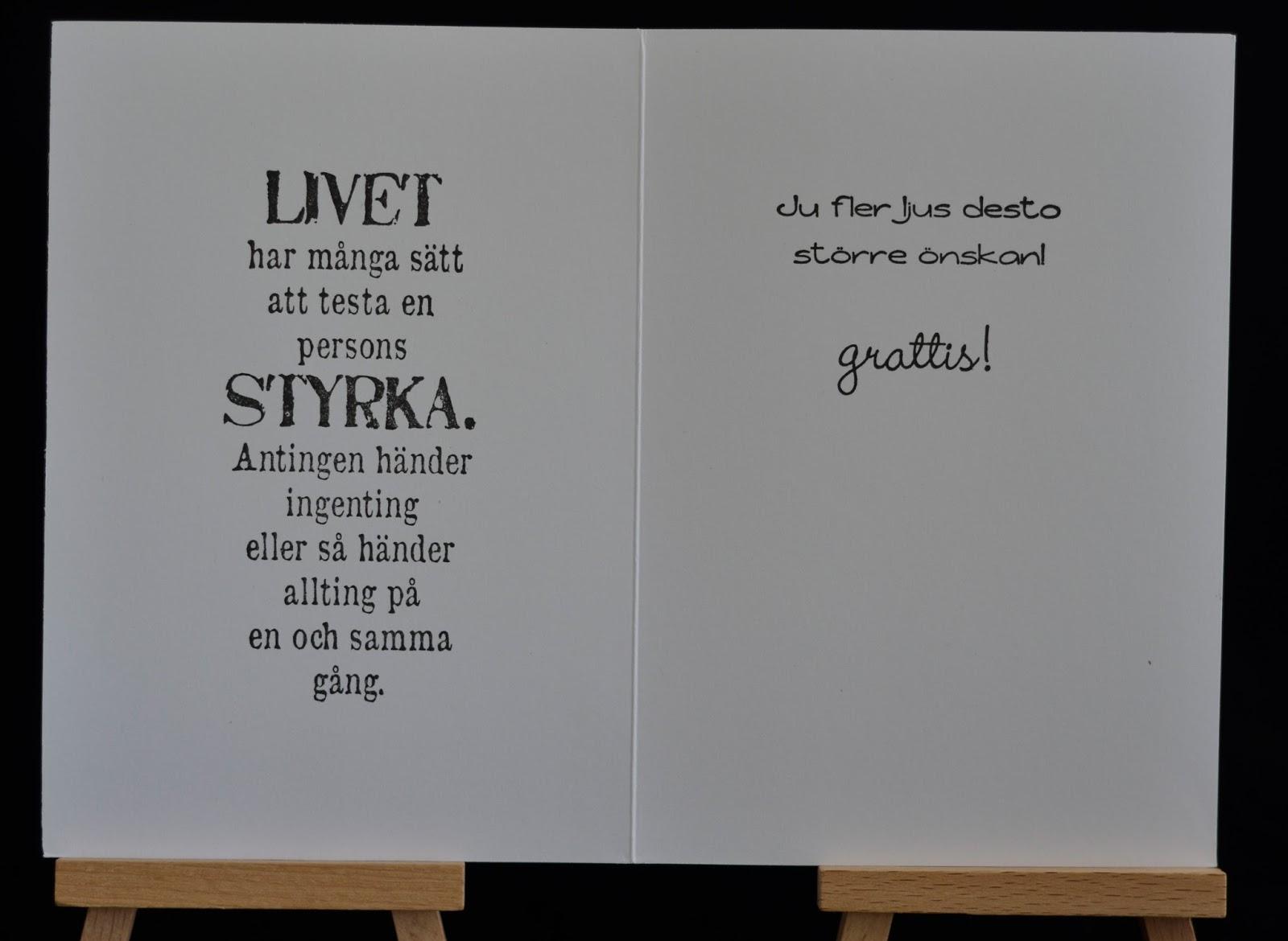 grattis text 30 år Pysselventilen: Liiina grattis! grattis text 30 år