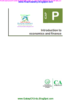 CAF-02 - INTRODUCTION TO ECONOMICS AND FINANCE 2016 - STUDY TEXT