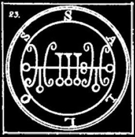 saleos, sigilo, daemon, goetia, ocultismo