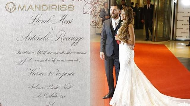 Pernikahan Meriah Lionel Messi dan Antonella Roccuzzo