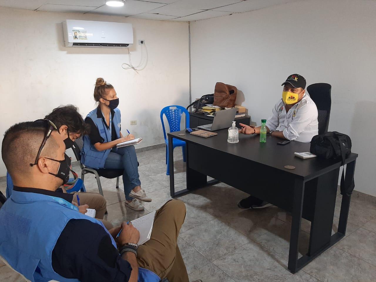 https://www.notasrosas.com/Alcaldía de Maicao y Onu hablan sobre seguridad para refugiados y excombatientes