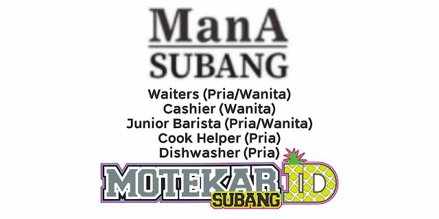 Loker Waiter, Cashier, Junior Barista, Cook Helper, Dishwasher ManA Subang 2021