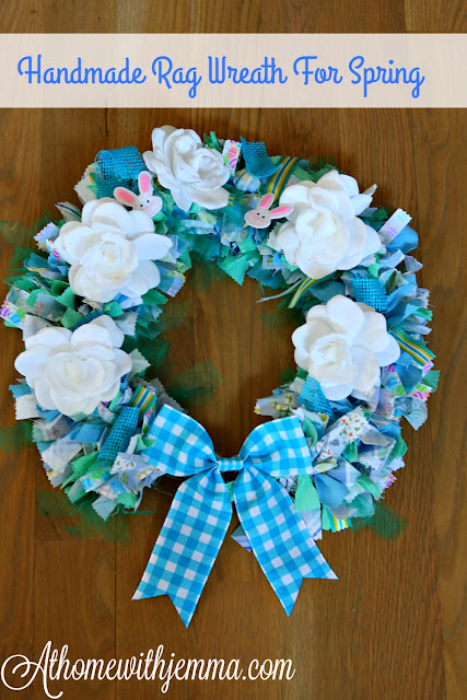 craft, diy, handmade, spring, simple, rag, wreath, athomewithjemma.com