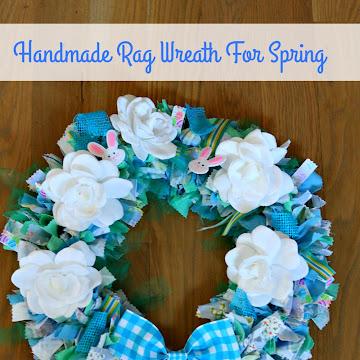 Handmade Spring Rag Wreath Tutorial and Supply List