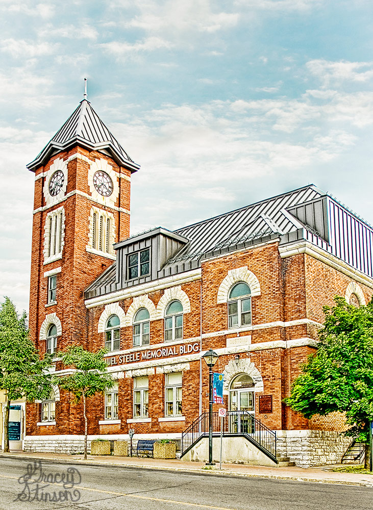 The Sir Sam. Steele building was originally designed as a post office, but now houses the Orillia Museum of Art and History