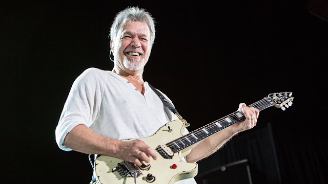 "RIP Ed Van Halen ,"" the  most original and dazzling rock guitarist in History."""