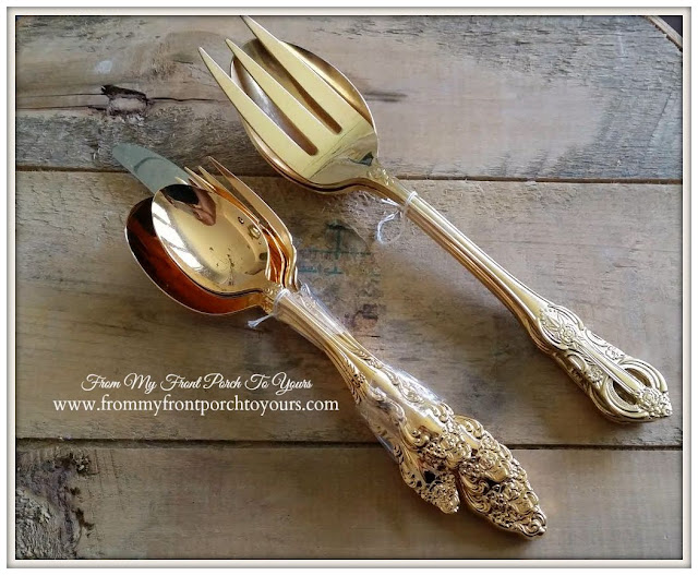 Gold Flatware-Treasure Hunt Thursday- From My Front Porch To Yours