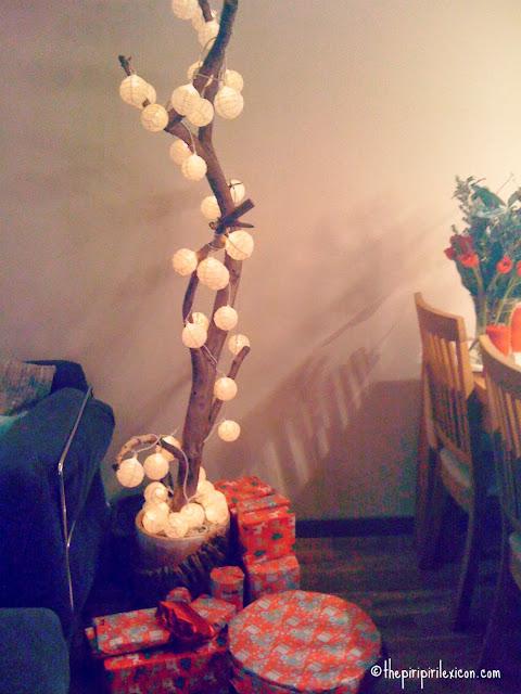 Branch as a Christmas tree alternative