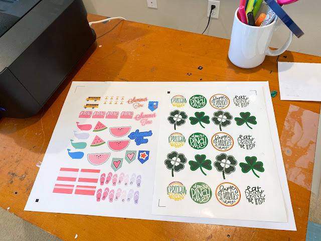 "15"" Silhouette CAMEO 4 Plus, Print and Cut, 15"" Silhouette CAMEO Plus, Sticker Paper, Stickers"