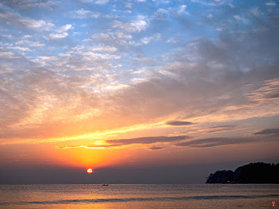 Sunset seascape: Yuigahama-beach