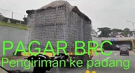 Pengiriman Pagar BRC Jakarta Ke Padang By Trucking