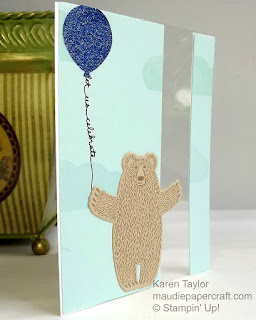 Stampin' Up! Bear hugs balloon card