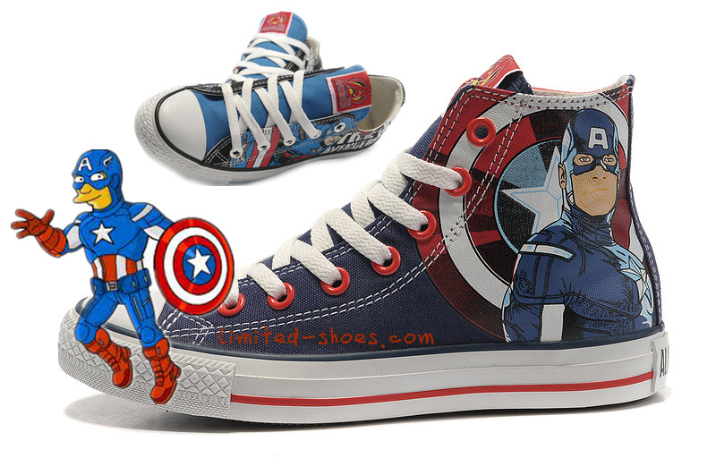 2589e5403ccd Converse Limited Edition  Converse The Avengers Captain America ...
