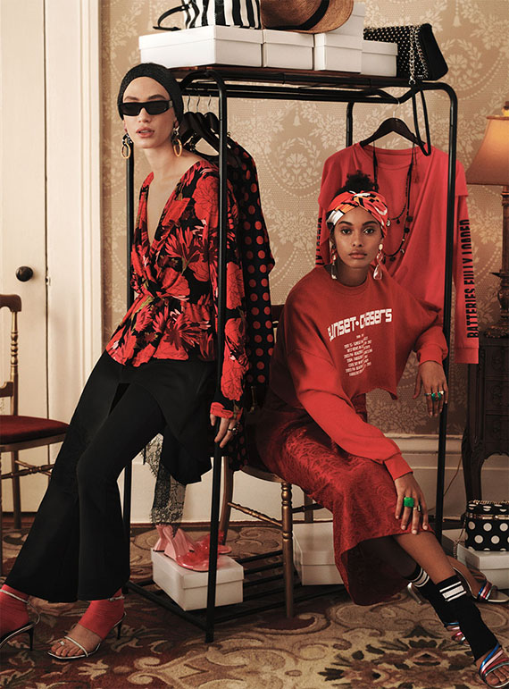 color inspiration, editorials zara woman spring summer 2018 black and red