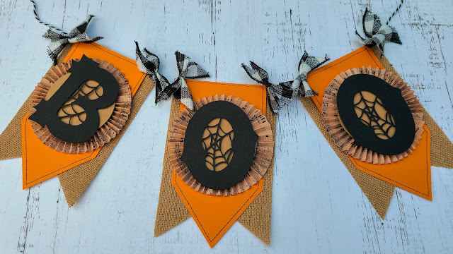 cameo 3, foil quill, paper crafting, burlap banner, halloween