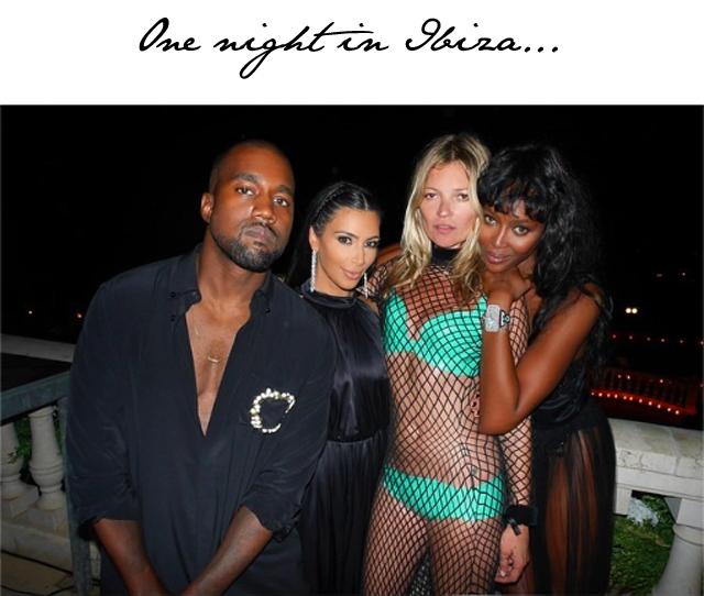 Kim Kardashian Kanye West Kate Moss Naomi Campbell