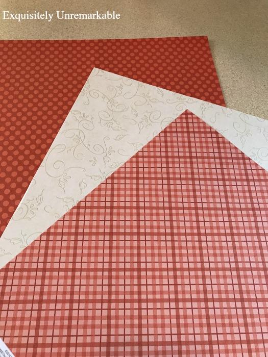 Scrapbook Paper For Pumpkin Banner