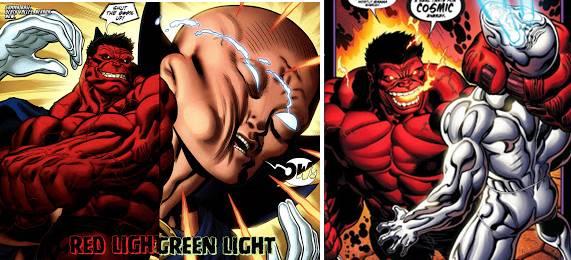 Hulk Rojo mata a Silver Surfer y Uatu