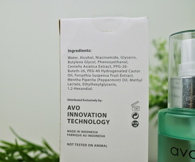 Ingredient Avoskin HTE New Formula