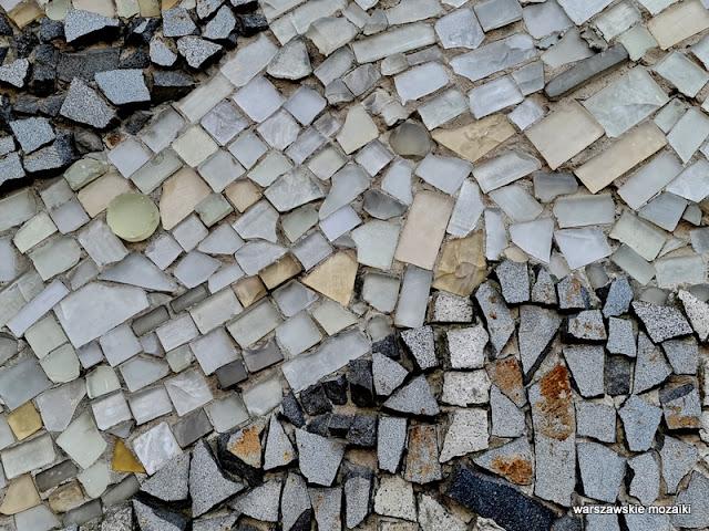 Biblioteka Centralna Polski Związek Niewidomych Warszawa Warsaw mozaika mosaic warszawskie mozaiki Kazimierz Gąsiorowski lata 70 kamień szkło