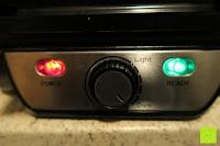 grüne Lampe an: Waffeleisen Belgisch für 4 belgische Waffeln,XXL Waffelautomat,brüssler Doppel,Thermostat, stufenlose Temperatureinstellung, Backampel, Cool-Touch Griff