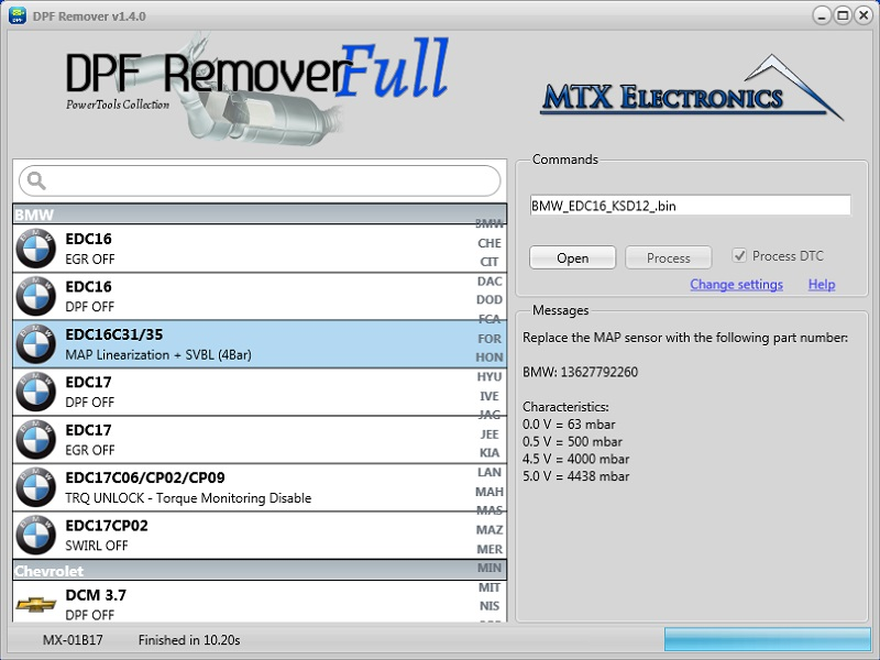 MTX DPF Remover Free v1 4 ~ Free hacked car software