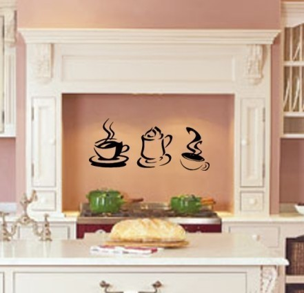 PERSONALISED KITCHEN WALL STICKER vinyl art decal quote ...