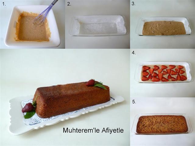 Siyez unlu çilekli kek nasıl yapılır?