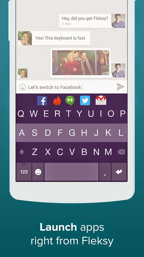 Fleksy + GIF Keyboard Full v6.7.3