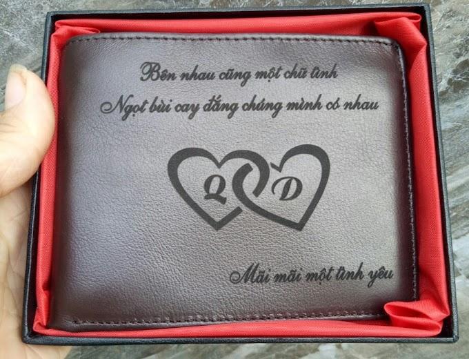 ví nâu chỉ nhỏ tặng người yêu