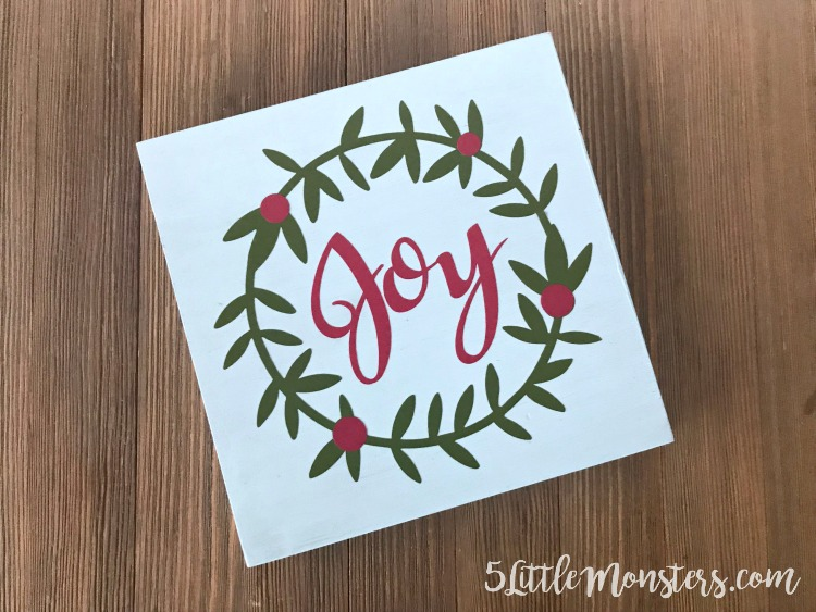 5 Little Monsters Joy Sign A Quick Christmas Craft