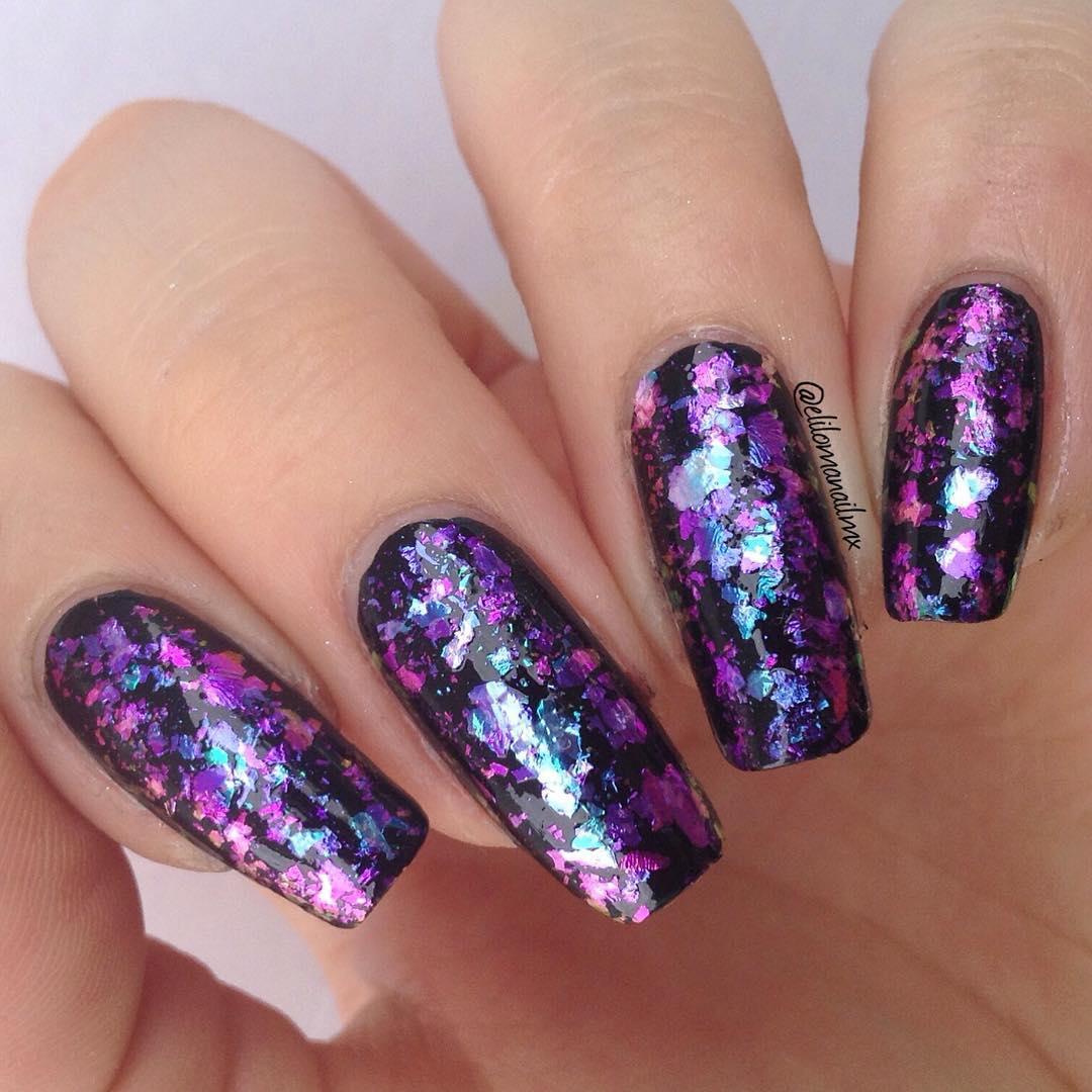 Born Pretty Store Blog: Flakies Glitter Nail Art- Bling Nail Ideas ...