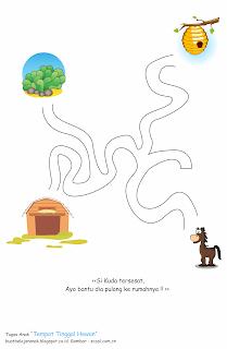 merupakan lembar kerja anak yang bertujuan sebagai wadah belajar bagi anak Tugas Anak Bertema Tempat Tinggal Hewan