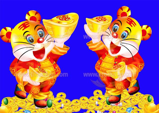 Cặp Hổ Vàng phúc Lộc năm 2022 năm dần