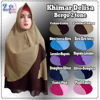 Khimar-delisa-bergo-2tone-terbaru-murah